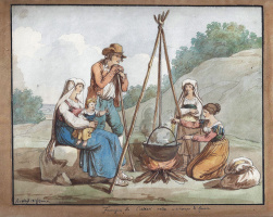 Бартоломео Пинелли. Famiglia di Cioliari nelle vicinanze di Roma, Roma 1816