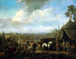 Лингелбах Иоханнес Хаккерт. Осада фламандского города испанцами