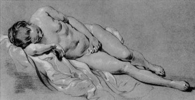Jacob Adriaans Bakker. Reclining Nude