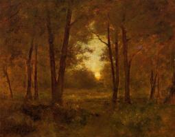 George Inness. Sunset near Montclair