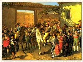 Мануэль Кастеллано. Всадники, ожидающие входа в Мадрид