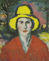 Kazimir Malevich. Portrait of woman in yellow hat
