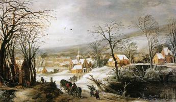 Де Момпер. Зимний пейзаж