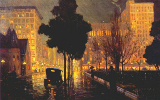 Frederick Simpson Coburn. Rainy night