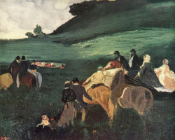 Эдгар Дега. Пейзаж с всадниками