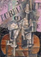 Пабло Пикассо. Столик в кафе (Бутылка Перно)