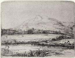 Рембрандт Харменс ван Рейн. Канал с лебедями