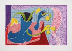 David Hockney. Still life with flowers