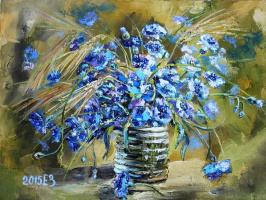 Elena Nikolaevna Zorina. Azure blue