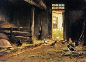 Маринус Куккук. Интерьер конюшни