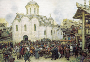 Аполлинарий Михайлович Васнецов. Оборона Москвы от хана Тохтамыша