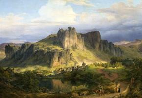 Карлд Фридрих Лессинг. Пейзаж в горах Эйфель