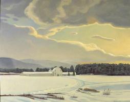 Рокуэлл Кент. Адирондакская ферма. Зима