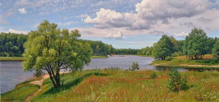 Alexander Vasilyevich Zoryukov. Rakita by the water. Upper lake.