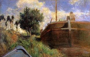 Paul Gauguin. Blue barge