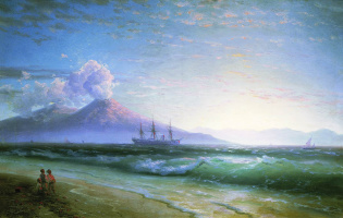 Ivan Aivazovsky. The Bay of Naples early in the morning