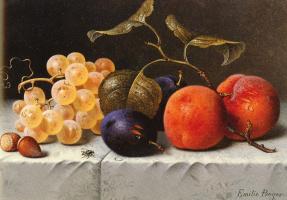 Эмилия Прейер. Натюрморт с фруктами и орехами