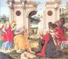 Франческо ди Джорджио Мартини. Поклонение младенцу