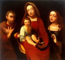 Джованни Франческо Карото. Мадонна с младенцем, Святым Франциском и Святой Екатериной