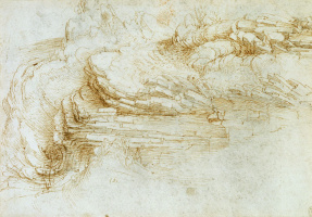 Leonardo da Vinci. An Outcrop of Stratified Rock