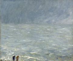 Кес Ван Донген. Трувиль, море (Пасмурная погода)