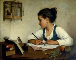 Генриетта Браун. Пишущая девочка