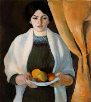 Август Маке. Женщина с фруктами