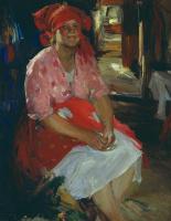Абрам Ефимович Архипов. Баба в розовом. 1919