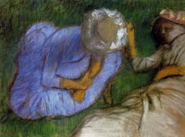 Эдгар Дега. Молодые женщины, отдыхающие в поле