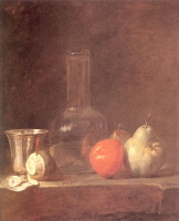 Жан Батист Симеон Шарден. Натюрморт со стеклом