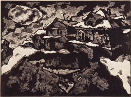 The Village Of Priluki. Reflection