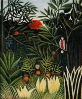 Анри Руссо. Пейзаж с обезьянками