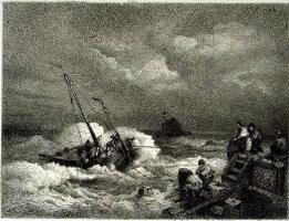 Андреас Ахенбах. Лодка