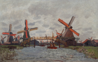 Claude Monet. Mill Westsideand near Zaandam