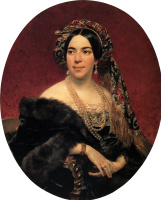 Karl Pavlovich Bryullov. Portrait of Princess M. P. wolkonsky