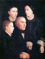 Ян Матейко. Портрет Францишека Матейко, отца художника, с тремя детьми