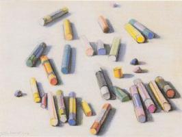 Уэйн Тибо. Рассыпанные мелки пастели