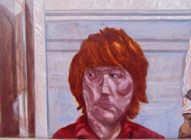 Chris Waddington. Detail from Self Portrait in a Mirror.