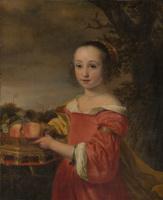 Фердинанд Балтасарс Боль. Портрет Петронеллы Элиас с корзиной фруктов