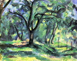 Paul Cezanne. Forest plot