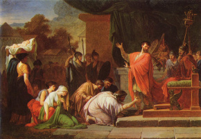 Жан-Франсуа-Пьер Пейрон. Царь Персей перед Эмилием Павлом