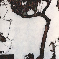 Egon Schiele. Plum tree