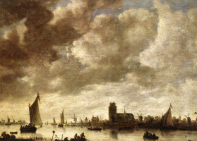 Ян ван Гойен. Вид на  Мерведе перед Дордрехтом