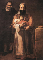 Хосе де Рибера. Магдалена Вентура с мужем и сыном