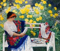 Николай Петрович Богданов-Бельский. Портрет жены художника