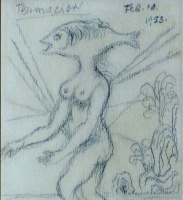 Давид Давидович Бурлюк. Голова в виде рыбы
