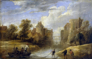 David Teniers the Younger. Landscape with fishermen