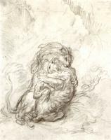 Эжен Делакруа. Схватка между львом и тигром