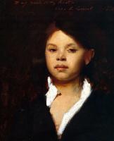 Джон Сингер Сарджент. Голова итальянской девушки