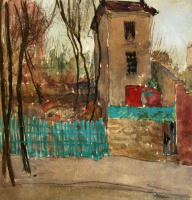 Александр Васильевич Шевченко. Пейзаж с зеленым забором. 1906
